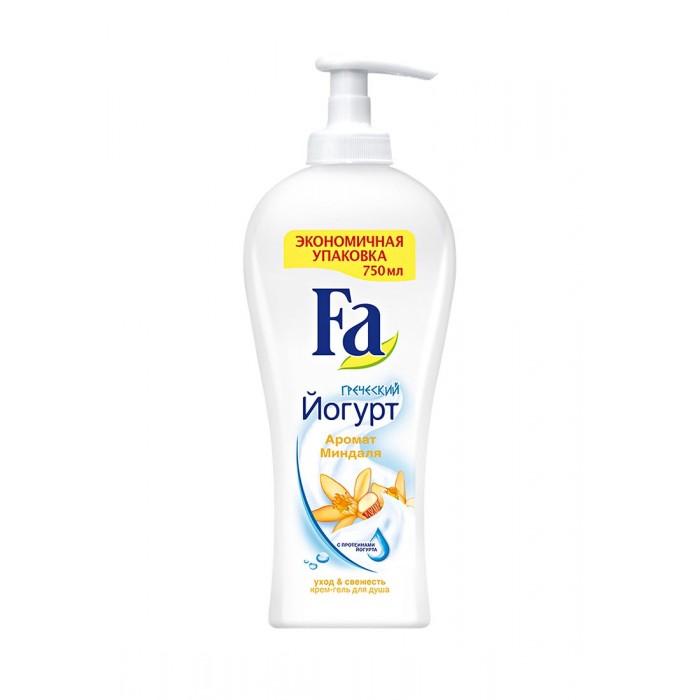 Косметика для мамы Fa Крем-гель для душа Греческий йогурт Миндаль экономичный формат 750 мл fa жидкое крем мыло греческий йогурт миндаль 250мл
