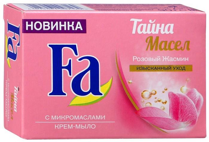 купить Косметика для мамы Fa Крем-мыло Кусковое Тайна масел Розовый жасмин 90 г по цене 60 рублей