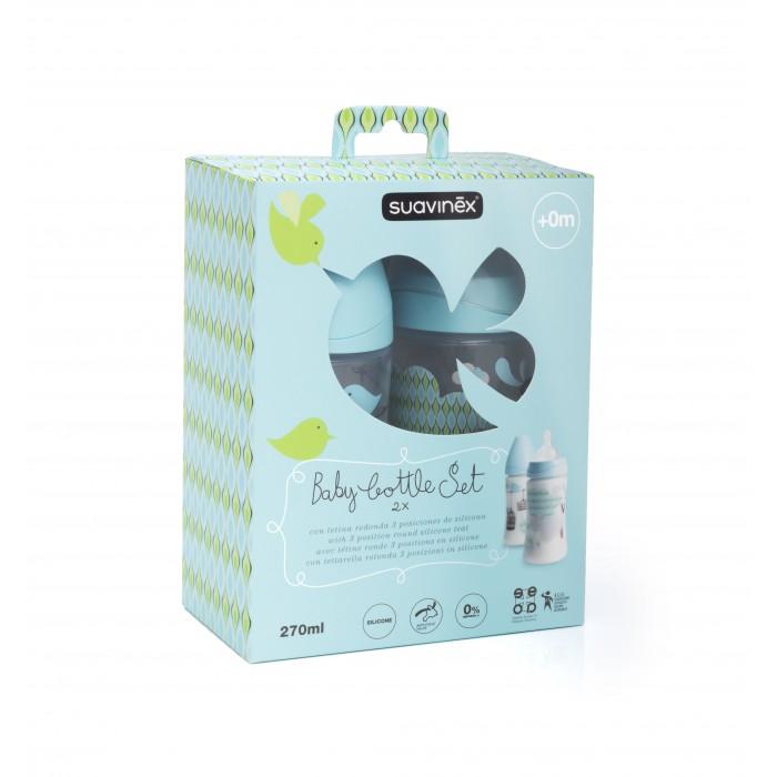Купить Бутылочка Suavinex Набор 2 шт. 0+ с силиконовой круглой соской 270 мл в интернет магазине. Цены, фото, описания, характеристики, отзывы, обзоры