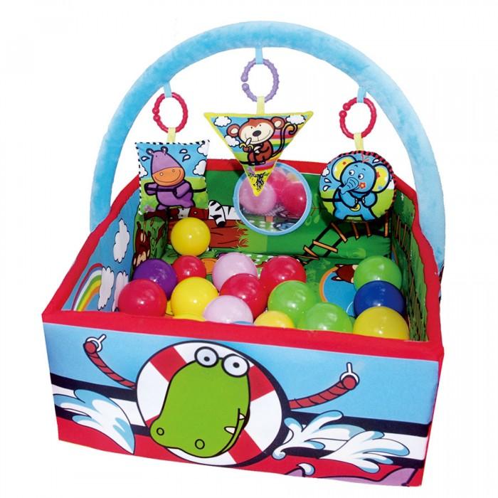 Развивающий коврик Biba Toys Друзья из джунглейДрузья из джунглейBiba Toys Развивающий коврик Друзья из джунглей  Коврик двухсторонний С открывающими бортиками С 25 шт. шариками 2-х размеров, которые обучают ребенка сравнивать большой и маленький размер Шары разноцветные, обучают ребенка цветам С красочными игрушками-погремушками разных геометрических форм, которые обучают ребенка формам Рисунки с цифрами для обучения ребенка цифрам. Размер: 99 х 84 см<br>