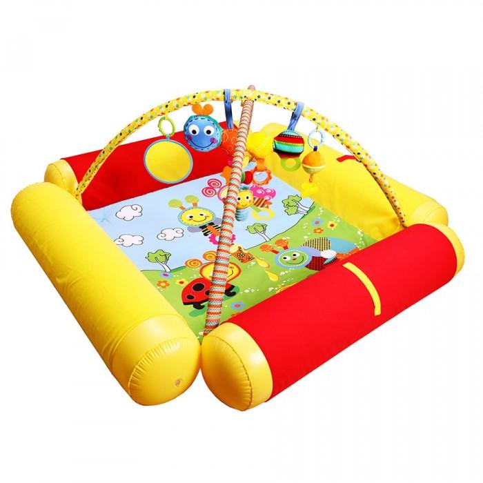 Развивающий коврик Biba Toys Друзья БюссиДрузья БюссиBiba Toys Развивающий коврик Друзья Бюсси  Коврик с мягкими надувными бортиками, которые могут служить подушкой для малыша С музыкальным мобилем С красочными игрушками Размер: 120 х 120 см<br>