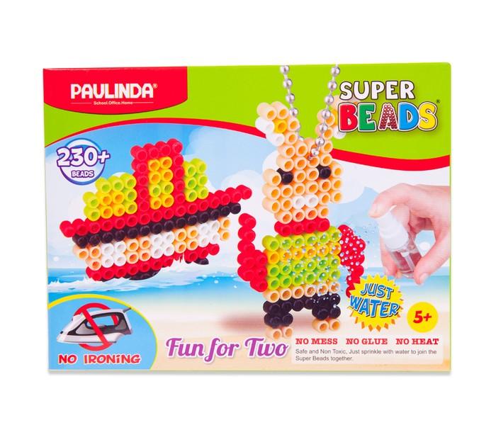 Мозаика Paulinda Мозаика 2 в 1 Super Beads - Кораблик и зайчик 230 элементов мозаика paulinda мозаика super beads сова 200 элементов