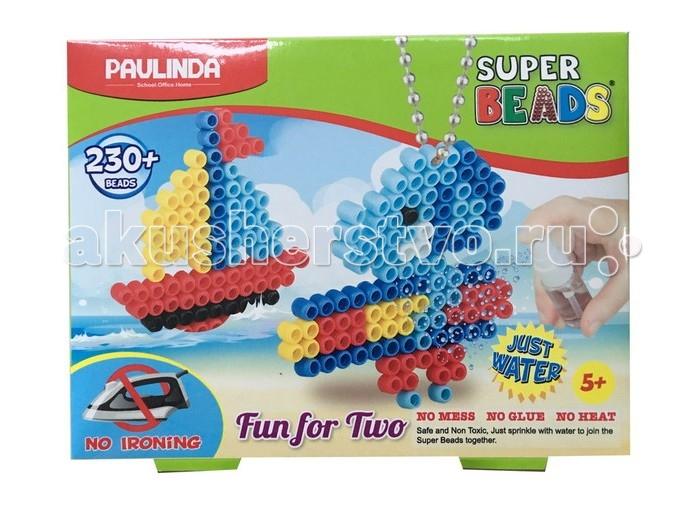 Мозаика Paulinda Мозаика 2 в 1 Super Beads - Кораблик и слоник 230 элементов мозаика paulinda мозаика 2 в 1 super beads кораблик и слоник 230 элементов