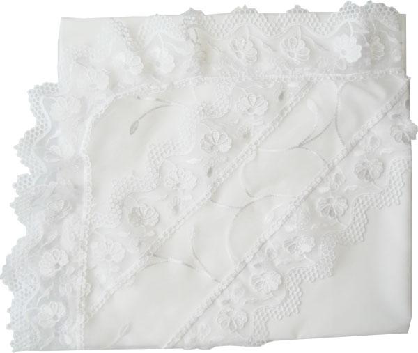 Крестильная одежда Папитто Уголок с органзой микрошелк крестильная одежда арго уголок с оборочкой 009 2н