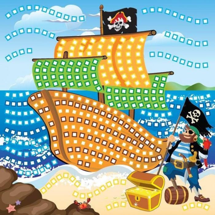 Мозаика Funnivation Самоклеящаяся мозаика Пиратский корабль 400 элементов funnivation