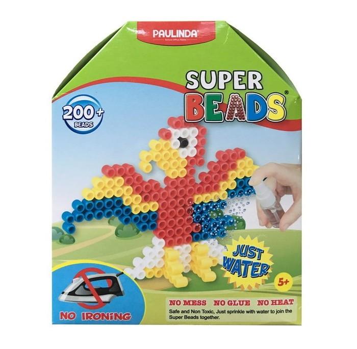Мозаика Paulinda Мозаика Super Beads - Попугай 200 элементов paulinda мозаика животные джунглей более 1200 деталей без использования утюга 150012
