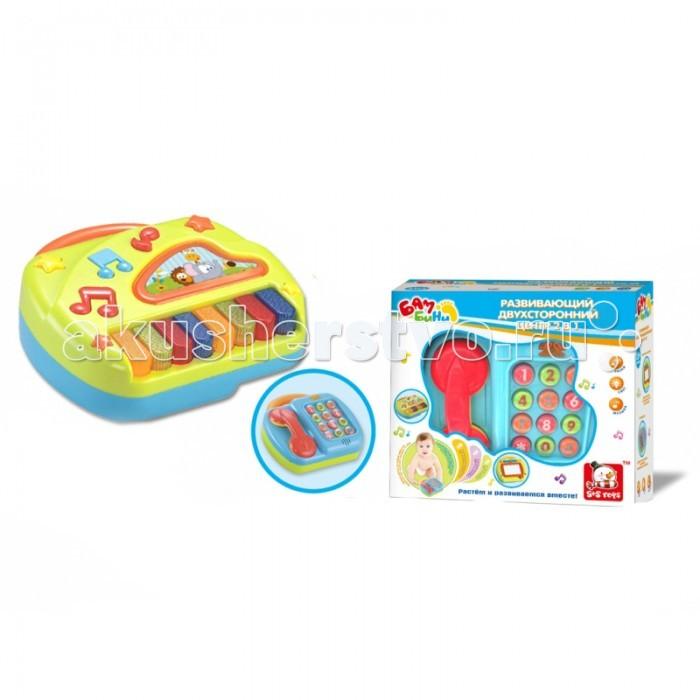 Развивающие игрушки S+S Toys Телефон и пианино со светом, звуком 2 в 1 игрушка s s toys bambini 2 в 1 развивающий телефон и пианино сс76752