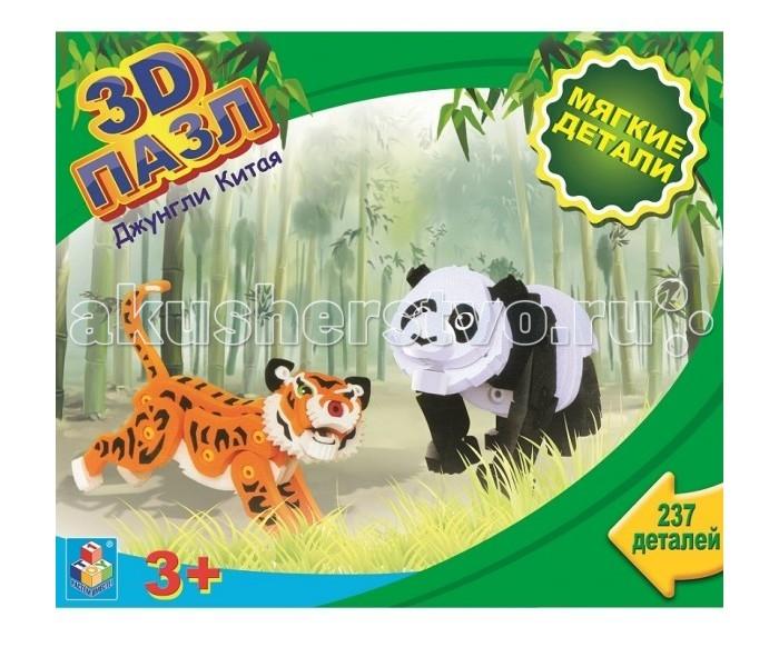 1 Toy 3Д пазл с мягкими EVA деталями Джунгли Китая 237 деталей