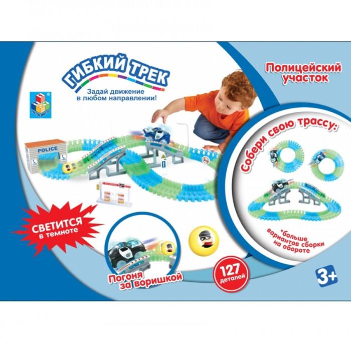 Картинка для 1 Toy Гибкий трек Полиция 139 деталей мост, дверь, машинка, свет