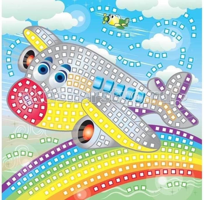 Мозаика Funnivation Самоклеящаяся мозаика Самолетик 400 элементов funnivation