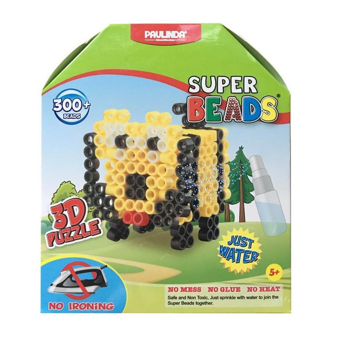 Мозаика Paulinda Мозаика Super Beads - Собачка 300 элементов мозаика paulinda мозаика 2 в 1 super beads кораблик и слоник 230 элементов