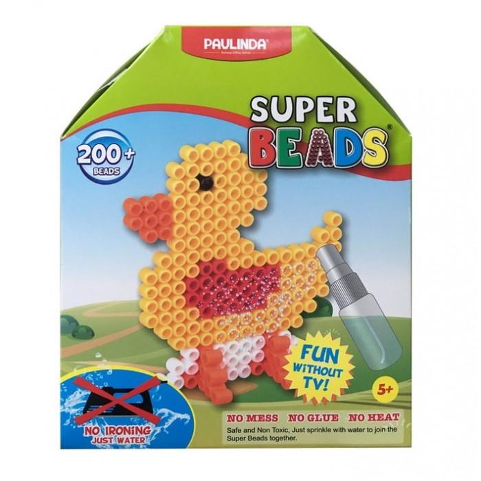 Мозаика Paulinda Мозаика Super Beads - Утенок 200 элементов paulinda мозаика животные джунглей более 1200 деталей без использования утюга 150012