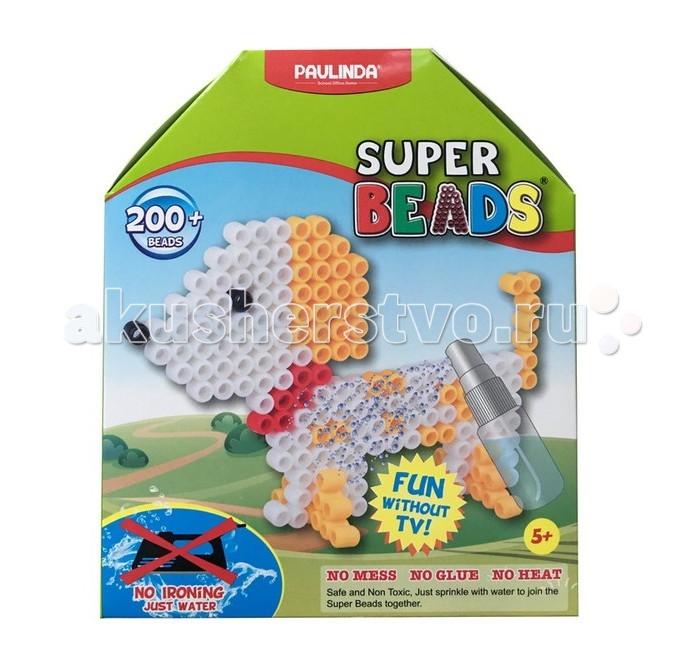 Мозаика Paulinda Мозаика Super Beads - Щенок 200 элементов мозаика paulinda мозаика 2 в 1 super beads кораблик и слоник 230 элементов