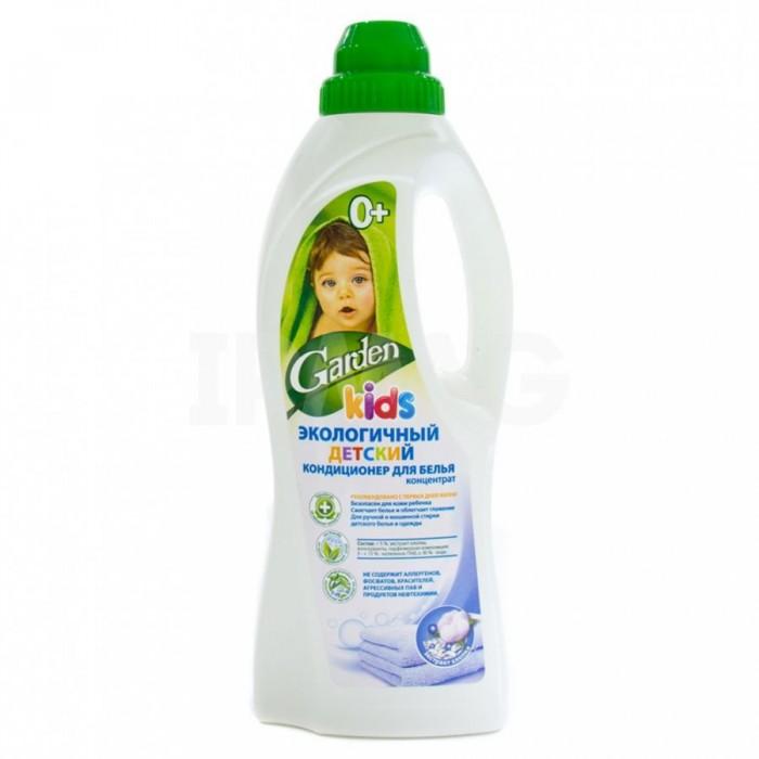 Детские моющие средства Garden Kids Экологичный детский кондиционер для белья с экстрактом хлопка 1 л гель для стирки garden kids детский концентрат с экстрактом алоэ вера 1 л