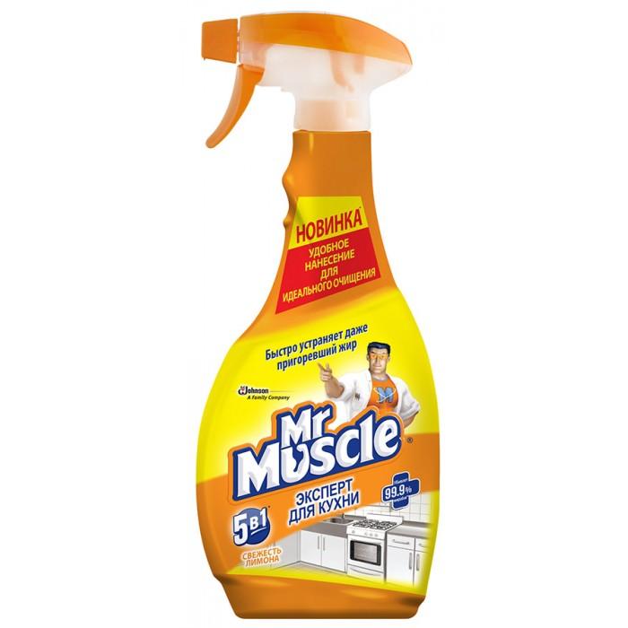 Бытовая химия Mr Muscle Эксперт для кухни Свежесть лимона курок 450 мл/500 мл бытовая химия mr proper средство для полов горный ручей и прохлада 500 мл