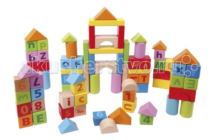Деревянные игрушки Hape Конструктор 80 деталей Е8022