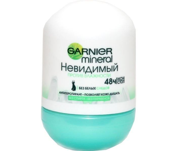 Косметика для мамы Garnier Mineral Дезодорант шариковый Невидимый Против влажности 50 мл дезодорант garnier термозащита женский
