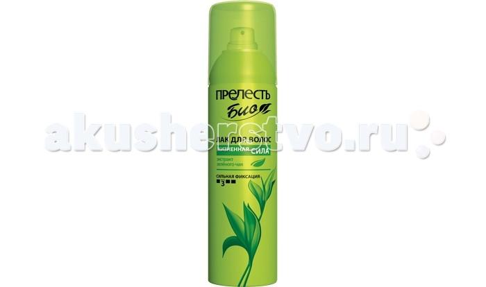 Косметика для мамы Прелесть Bio Лак для волос Зелёный чай сильная фиксация 160 мл косметика для мамы прелесть лак для волос 160 мл