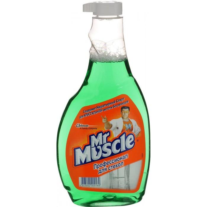 Бытовая химия Mr Muscle Профессионал с нашатырным спиртом зеленый для стекол сменный бутыль 500 мл herbal muscle