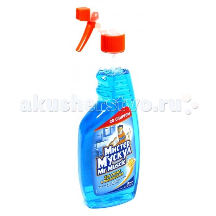 Бытовая химия Mr Muscle Профессионал со спиртом синий курок для стекол и других поверхностей 500 мл антизапотеватель для автомобильных стекол sapfire 500 мл