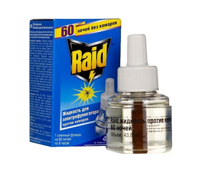 Средства от насекомых Raid Жидкость для фумигатора 60 ночей Эвкалипт фумитокс жидкость комар фумитокс неженка 45 ночей б з