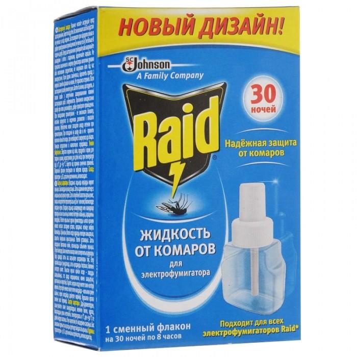 Средства от насекомых Raid Жидкость для электрофумигатора 30 ночей жидкость для электрофумигатора mosquitall нежная защита от комаров 30 мл без запаха