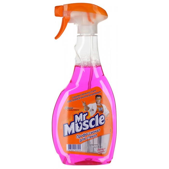 Бытовая химия Mr Muscle Лесные ягоды с Ammonia-D с нашатырным спиртом для стекол курок 500 мл чистящее средство для стекол и других поверхностей mr muscle с нашатырным спиртом 500 мл
