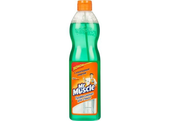Бытовая химия Mr Muscle Эконом со спиртом синий для стекол и других поверхностей сменный флакон 500 мл чистящее средство для стекол и других поверхностей mr muscle с нашатырным спиртом 500 мл