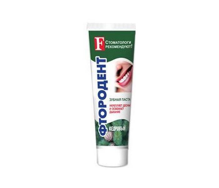 Гигиена полости рта Фтородент Зубная паста Кедровый 125 г зубная паста denivit в саранске