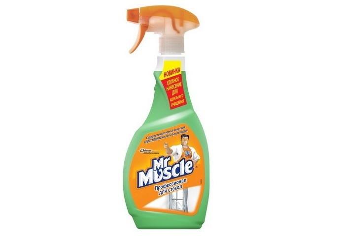 Фото - Бытовая химия Mr Muscle Профессионал с нашатырным спиртом зеленый курок для стекол 500 мл средство для стекол sanita со спиртом 1968 500 мл