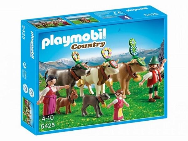 Конструктор Playmobil В горах: Альпийский фестивальВ горах: Альпийский фестивальАльпийский фестиваль - древняя традиция фермеров.   Это большой и один из самых любимых праздников жителей Альп.   Самых лучших коров наряжают и идут с ними на фестиваль в долину.   Семьи наряжаются в традиционные костюмы и с удовольствием веселятся.   В наборе три коровы, теленок, коза, две фигурки взрослых и одна фигурка ребенка.<br>