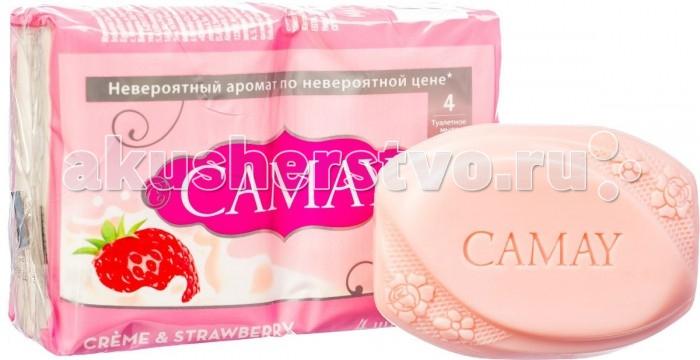 Косметика для мамы Camay Мыло твердое Клубника со сливками 4 х 75 г camay 1l
