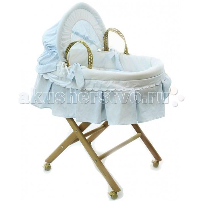 Детская мебель , Колыбели Fiorellino Корзина плетёная с капюшоном Prince арт: 266607 -  Колыбели