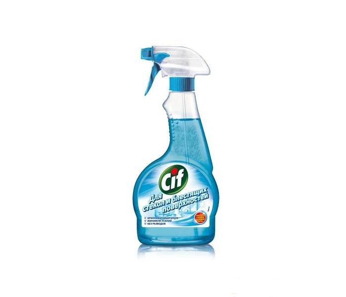 Бытовая химия Cif Чистящее средство для стекол и блестящих поверхностей 500 мл средство для защиты и чистки стеклокерамики feed back 500 мл