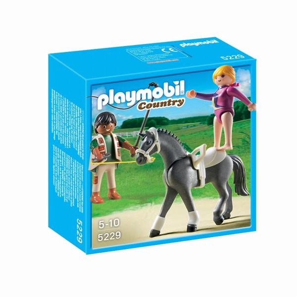 Конструкторы Playmobil Лошади: Наездница-эквилибриства на лошади средство для волос 6 млх15 marlies moller средство для волос 6 млх15