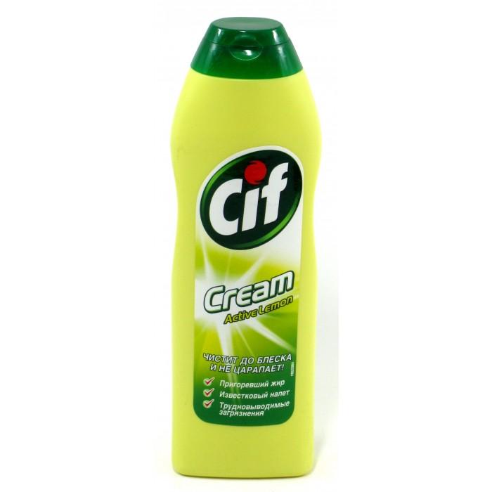 Бытовая химия Cif Чистящий крем Актив Лимон 250 мл аква минерале актив лимон 0 6 л бутылка