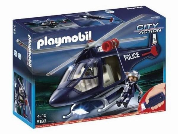 Конструктор Playmobil Полиция: Полицейский вертолетПолиция: Полицейский вертолетРазыграйте всякие воображаемые мини сценки с полицейским вертолётом от Playmobil City Action.   Работа полицейского одна из самых важных и опасных, которая требует больших сил и отваги. При помощи полицейского вертолёта, который оснащён фонариком, преступник никогда от вас не скроется и вы обязательно его задержите.   А чтоб не ждать, когда вертолёт приземлиться, один из полицейских может спуститься с вертолёта на верёвке с крюком. И как можно быстрее задержать преступника. Фонарик это отдельная часть вертолёта, которую нужно прикрепить.   Рост фигурки полицейского 7.5 см. Фигурки людей могут нагибаться, двигать руками и головой.  В комплект входит: полицейский вертолёт, два полицейских с пистолетами и фонарик.  Комплект состоит из 24 деталек.  Для работы фонарика требуются 3 батарейки 1.5V AAA ( Не включены в комплект).  Все детали комплекта изготовлены из высококачественной пластмассы.<br>