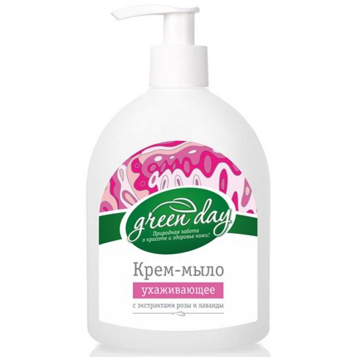 Косметика для мамы GreenDay Жидкое мыло Роза и Лаванда 350 мл жидкое мыло лаванда олива 300 мл sodasan