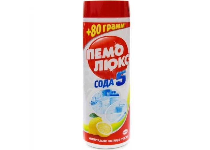 Бытовая химия Пемолюкс Чистящий порошок Сода 5 Extra Лимон 480 г для похудения сода и лимон