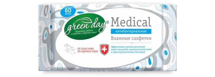 Салфетки GreenDay Салфетки влажные Medical антибактериальные 60 шт. салфетки duni салфетки duni комплект 2 шт