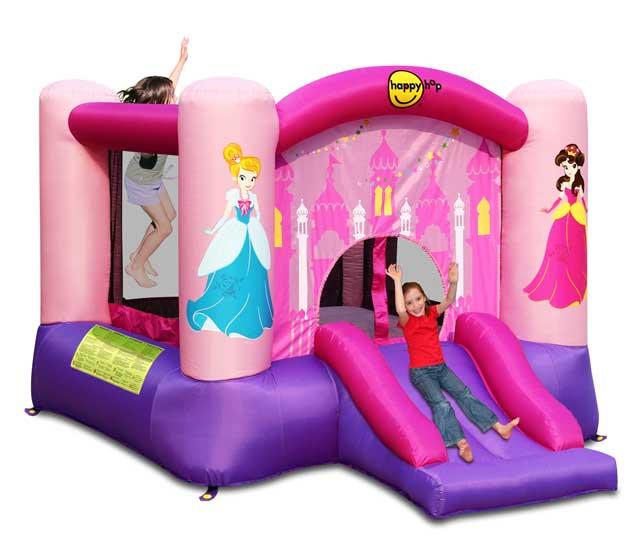 Летние товары , Надувные батуты Happy Hop Надувной батут с горкой Принцесса 9201P арт: 26756 -  Надувные батуты