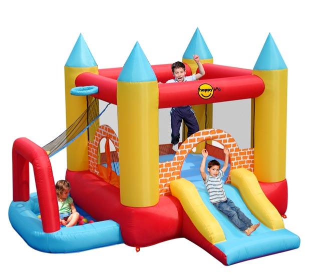 Надувные батуты Happy Hop Надувной батут с горкой Мини Замок 4 в 1 9114 детский батут мини замок 4 в 1 9114 happy hop
