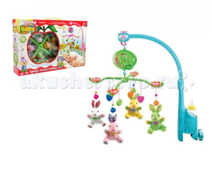 Мобиль Henglei  Зайки с батарейкамиЗайки с батарейкамиМузыкальный мобиль Зайки с батарейками.  Помогает ребенку в развитии фиксирования зрения на движущихся предметах, улучшает засыпание. Цветные игрушки привлекут его внимание, а звук мелодии позволит ребёнку успокоиться.   Характеристики: мягкие игрушки - зайки музыкальный блок с регулировкой звука держатель для бутылки на батарейках выполнены из безопасных материалов высокого качества<br>