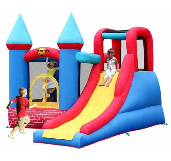 Летние товары , Надувные батуты Happy Hop Надувной батут Замок с горкой 9007 арт: 26812 -  Надувные батуты