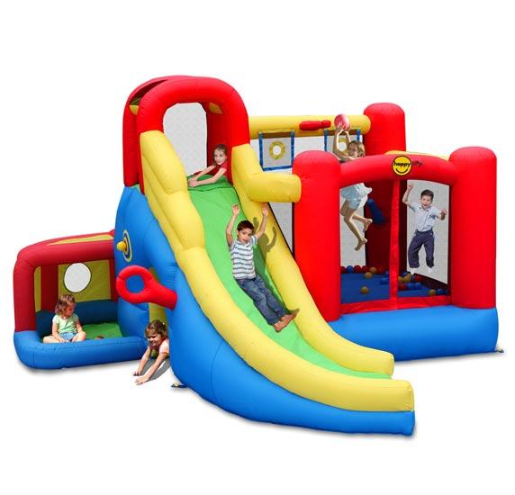 Купить Happy Hop Надувной Батут С Горкой Игровой Центр 11 В 1 9406