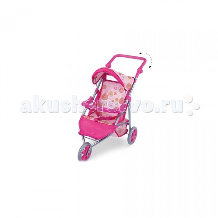 Коляска для куклы Fei Li Toys FL8164-1FL8164-1Fei Li Toys Кукольная коляска FL8161-1  Яркий дизайн и легкое использование сделают игру с куколкой еще интереснее.  Характеристики: Яркая, красивая расцветка Коляска выполнена из качественной ткани Съемный чехол, можно стирать Колеса пластиковые Защитный козырек Удобная ручка для ребенка, регулируемая Удобно и компактно складывается  Размер: 53x38x59.5 см<br>