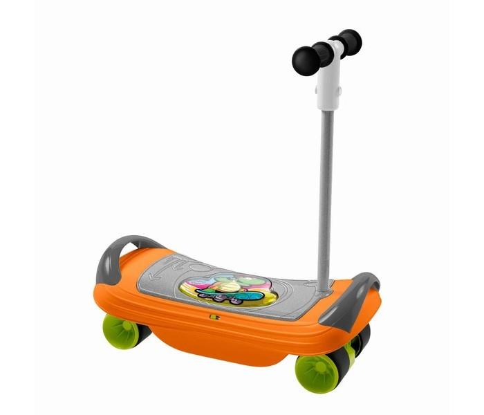 Трехколесный самокат Chicco BalansKateBalansKateСкейтборд BalansKate 3 в 1 — это комплексный тренажер для развития физических данных ребенка и для забавного времяпровождения. Игрушка может использоваться в трех вариантах. Для самых маленьких (от 18 месяцев) скейтборд используется без руля, как доска-балансир. Сидя на ней, ребенку нужно удерживать равновесие. При этом процесс организован, как игра: звучит веселая музыка, пока ребенок сидит на скейтборде, а стоит ему потерять равновесие, как музыка прерывается.  С 2-х летнего возраста ребенок сможет использовать скейтборд уже не сидя, а стоя. Нужно установить руль в специальный паз и превратить скейтборд в полноценный самокат.   Использовать скейтборд без руля рекомендуется только от 3-х лет. Во всех случаях не забывайте о специальной защитной экипировке (в комплект не входит, приобретается отдельно).Широкие устойчивые колеса прорезинены, что придает мягкость ходу. Скейтборд легко трансформируется, а музыкальные эффекты и игровой момент сделают его любимым развлечением малыша.  Характеристики:  Возраст: от 18 месяцев Допустимый вес эксплуатации: 20 кг. Наличие батареек: не входят в комплект. Тип батареек: 2 х АА 1,5V LR6 (пальчиковые). Состав: пластик, резина. Размер коробки (дхшхв): 53 х 36 х 17 см. Размер самой игрушки (дхшхв): 46 x 24 x 57 см.<br>
