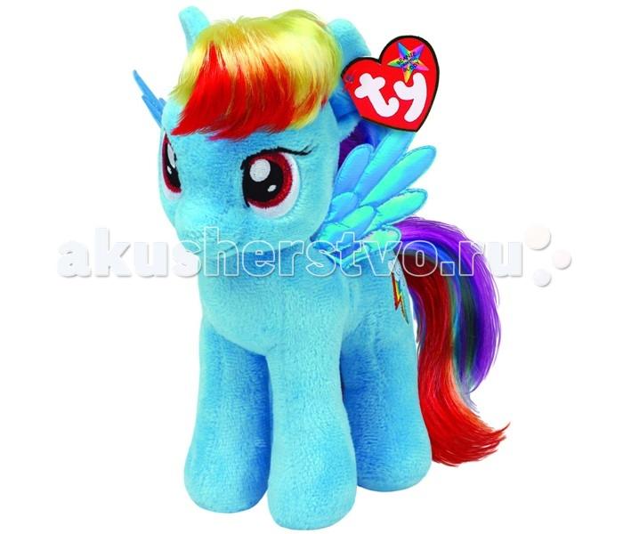 Мягкие игрушки Май Литл Пони (My Little Pony) Пони Rainbow Dash 25 см мульти пульти мягкая игрушка принцесса луна 18 см со звуком my little pony мульти пульти