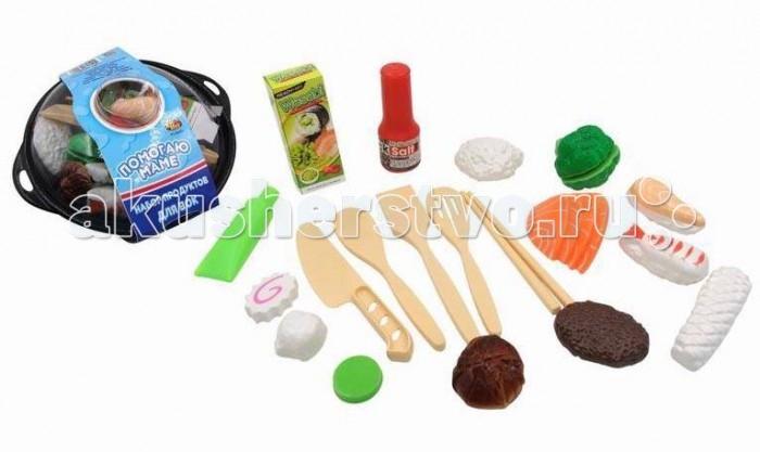 Ролевые игры ABtoys Помогаю Маме Набор продуктов для вок 21 предмет какую лучше сковороду вок