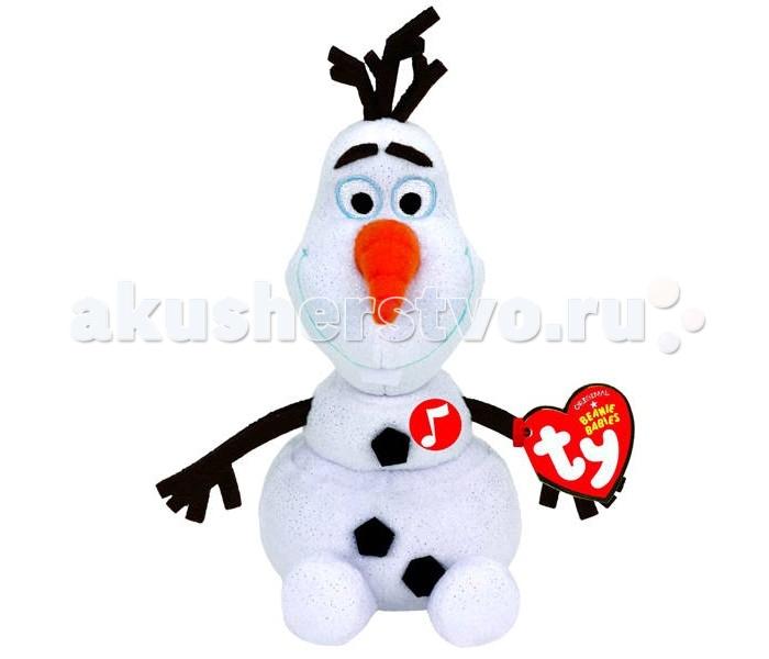 Мягкие игрушки Disney Beanie Babies Cнеговик Olaf 20 см звуковые эффекты disney игрушка